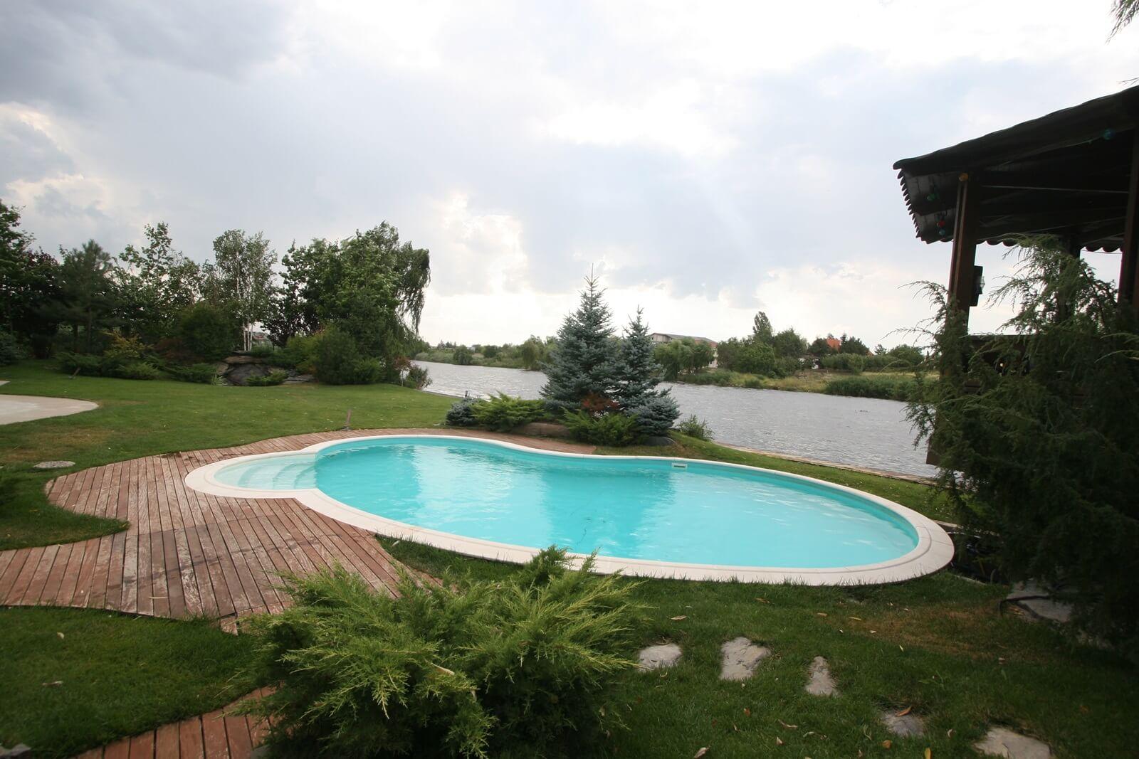 Piscina exterioara cu skimmer si liner piscine premium for Skimmer piscina
