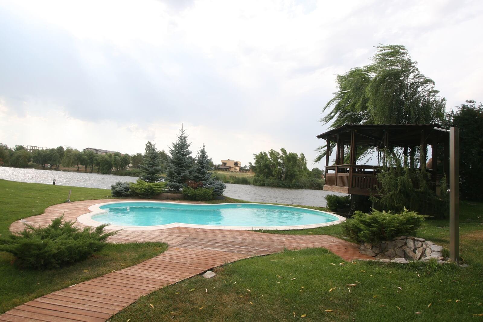 Piscina exterioara cu skimmer si liner piscine premium for Liner piscina